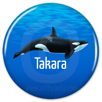 orca button or keychain takara. Black Bedroom Furniture Sets. Home Design Ideas